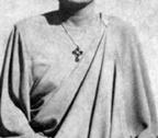 Rajarsi Jankananda Wearing a Christian Cross
