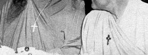 Yogananda and Rajarsi Janakananda Wearing Christian Crosses